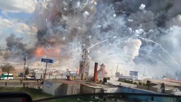Exploze pyrotechniky v Mexiku - Sputnik Česká republika