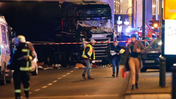 Policie na místě útoku v Berlíně - Sputnik Česká republika
