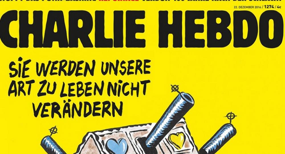 Obálka německého vydání Charlie Hebdo