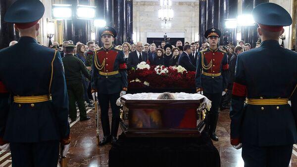 Ceremonie rozloučení s Andrejem Karlovem - Sputnik Česká republika