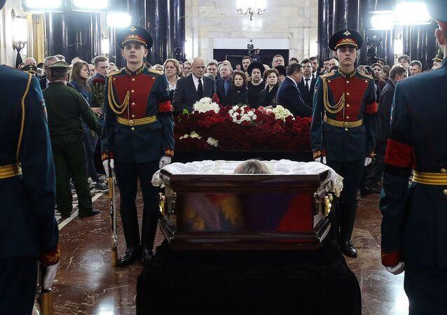 Ceremonie rozloučení s Andrejem Karlovem