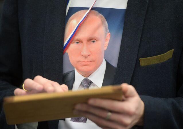 T-Shirt mit dem Porträt von Wladimir Putin