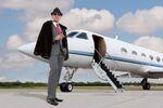 Byznysmen na letišti