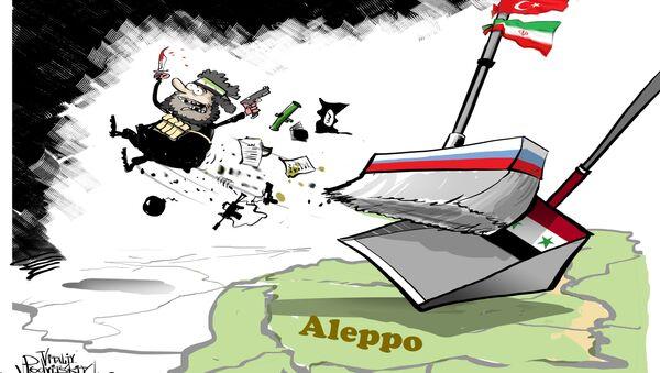 Syrská armáda úplně osvobodila Aleppo od teroristů - Sputnik Česká republika