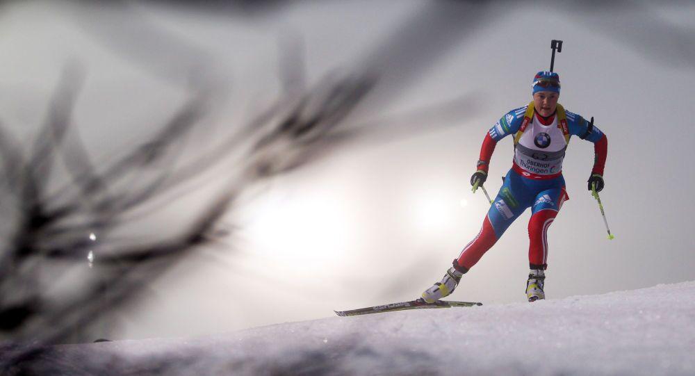 Biatlonistka Ekaterina Yurlovová