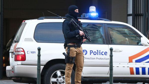 Belgická policie v Bruselu - Sputnik Česká republika