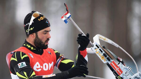 Francouzský biatlonista Simon Fourcade - Sputnik Česká republika