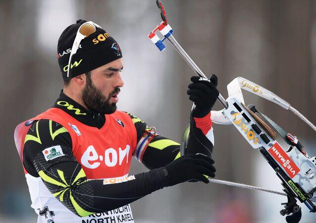 Francouzský biatlonista Simon Fourcade