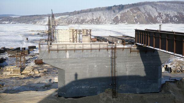 Výstavba mostu přes řeku Amur - Sputnik Česká republika