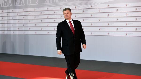 Petro Porošenko během summitu Východního partnerství v Rize - Sputnik Česká republika