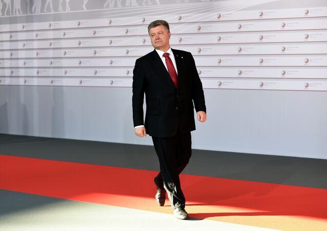 Petro Porošenko během summitu Východního partnerství v Rize
