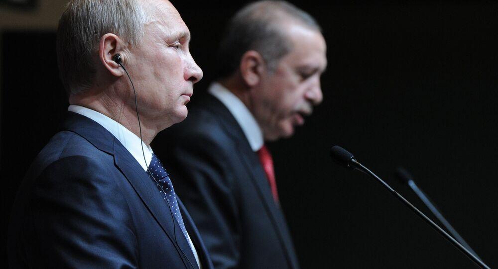 Vladimir Putin a Recep Tayyip Erdoğan
