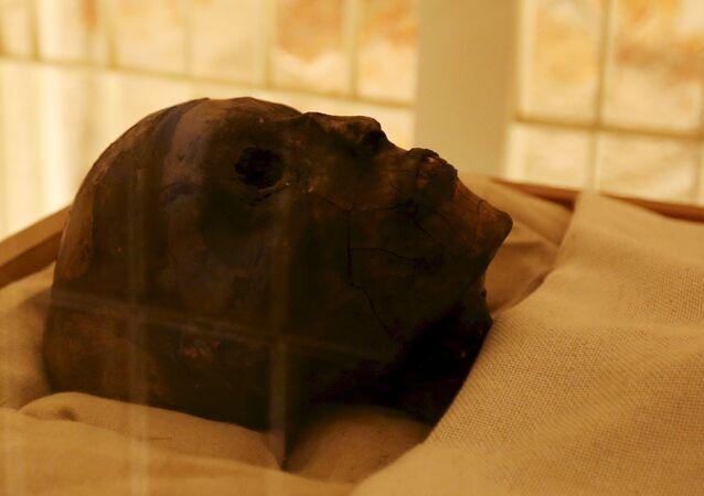 Mumie faraona Tutanchamona. Luxor, Egypt