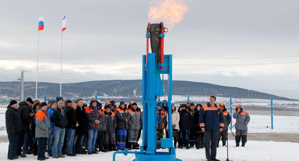 Slavnostního zprovoznění plynovodu
