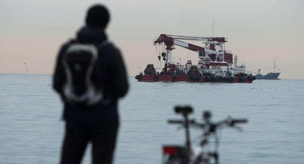 Pátrací práce u pobřeží Černého moře