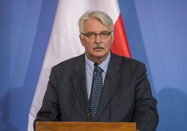 Polský ministr zahraničí Witold Waszczykowski
