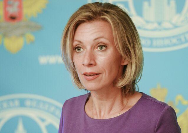 Tisková mluvčí ruského ministerstva zahraničí Maria Zacharovová