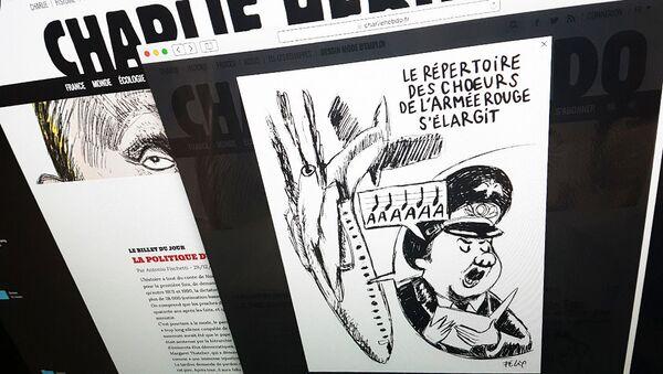 Charlie Hebdo zveřejnil karikaturu pádu letadla Tu-154 - Sputnik Česká republika