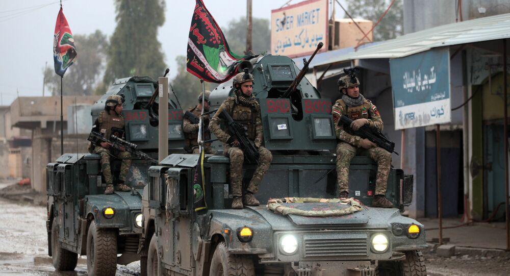 Iráčtí vojáci v Mosulu