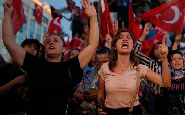Akce protestu v Istanbulu - Sputnik Česká republika