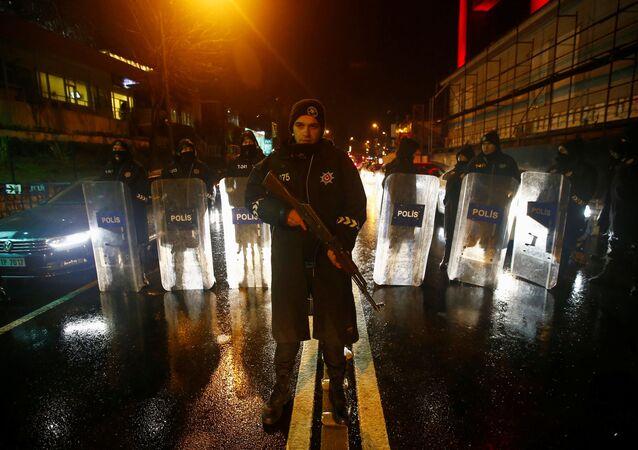 Policie na místě teroristického útoku v Istanbulu