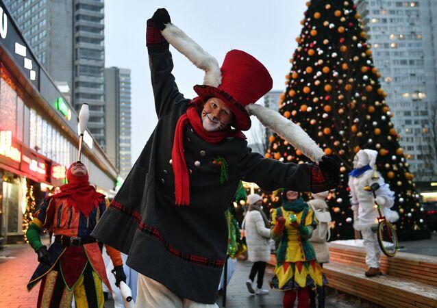 Vánoční oslavy v Moskvě