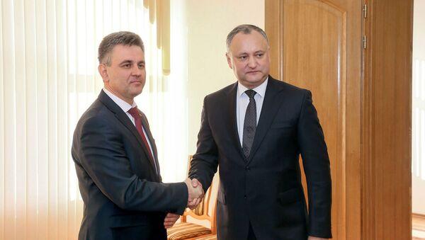 Jednání mezi prezidentem Moldavska Igorem Dodonem a prezidentem Podněstří Vadimem Krasnoselským - Sputnik Česká republika