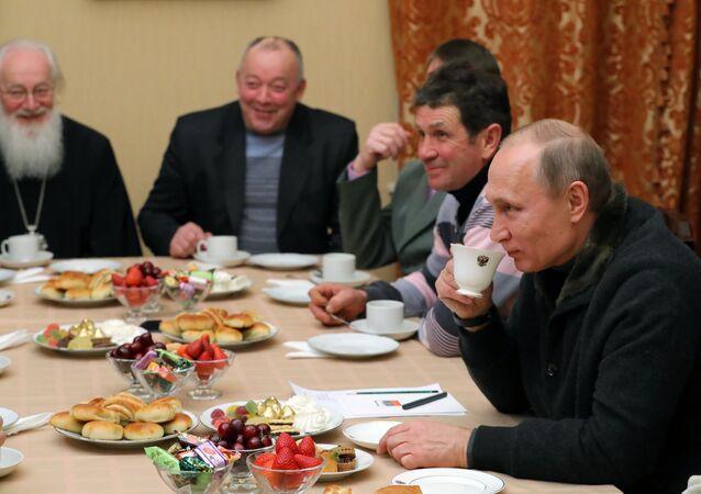 Ruský prezident Vladimir Putin v Novgorodě