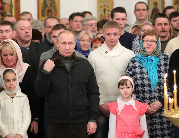 Oslavy Vánoc v Rusku - Sputnik Česká republika