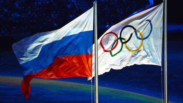 Olympijská a ruská vlajky - Sputnik Česká republika