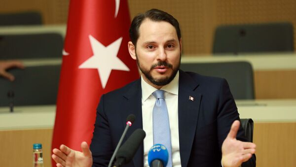 Turecký ministr energetiky Berat Albayrak - Sputnik Česká republika