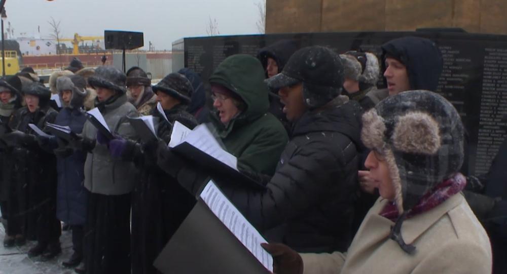 Hymnu RF v interpretaci Američanů – v USA uctili památku obětí havárie Tu-154