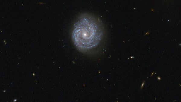 Spirální galaxie RX J1140.1+0307 v souhvězdí Panny - Sputnik Česká republika