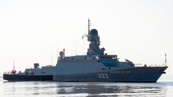 Ruská raketová korveta. Ilustrační foto - Sputnik Česká republika