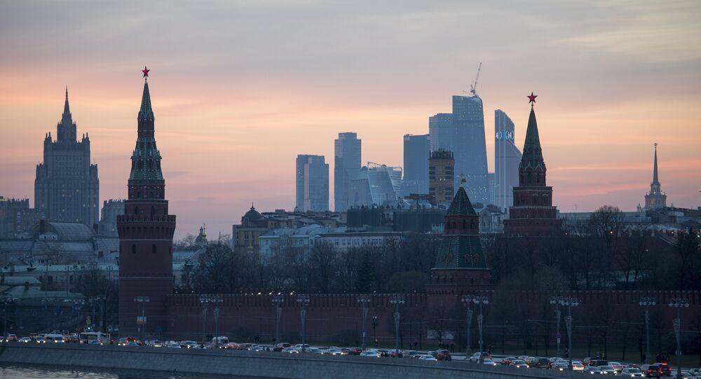 View of the Moscow Kremlin from the Bolshoy Moskvoretsky Bridge. (File)