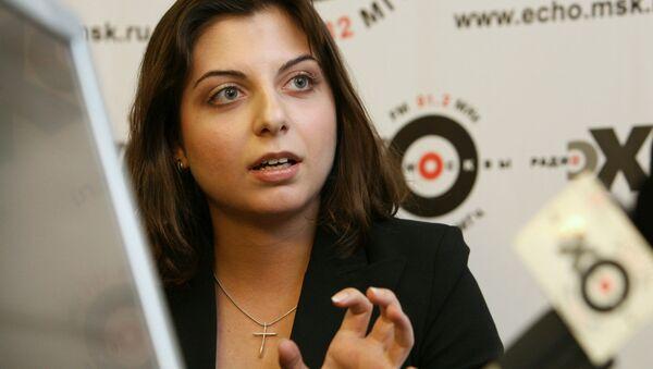 Šéfredaktorka Mezinárodní informační agentury Russia Today Margarita Simoňanová - Sputnik Česká republika