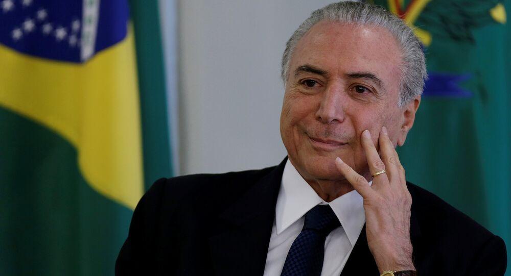 Bývalý brazilský prezident Michel Temer