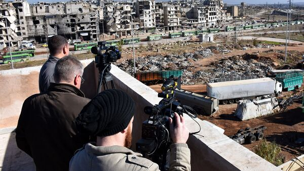 Novináři v Aleppu - Sputnik Česká republika
