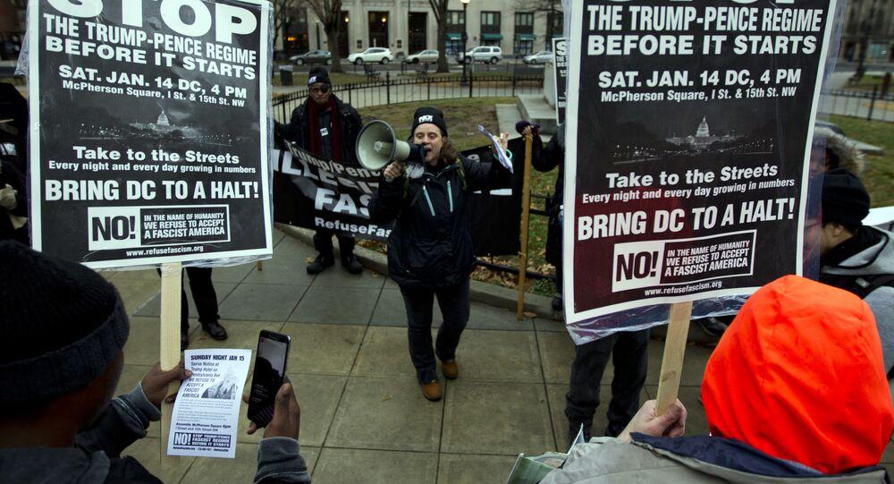 Protesty proti Trumpově inauguraci