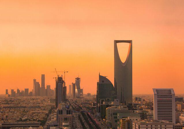 Pohled na Rijád, hlavní město Saúdské Arábie