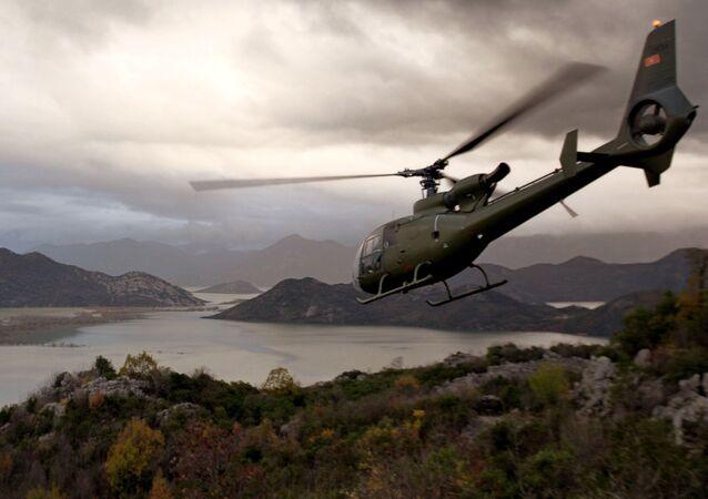 Vrtulník v Černé Hoře