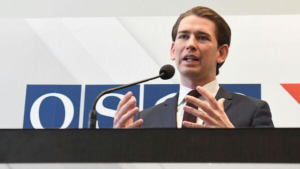 Předseda OBSE, Rakouský ministr zahraničních věcí Sebastian Kurz - Sputnik Česká republika