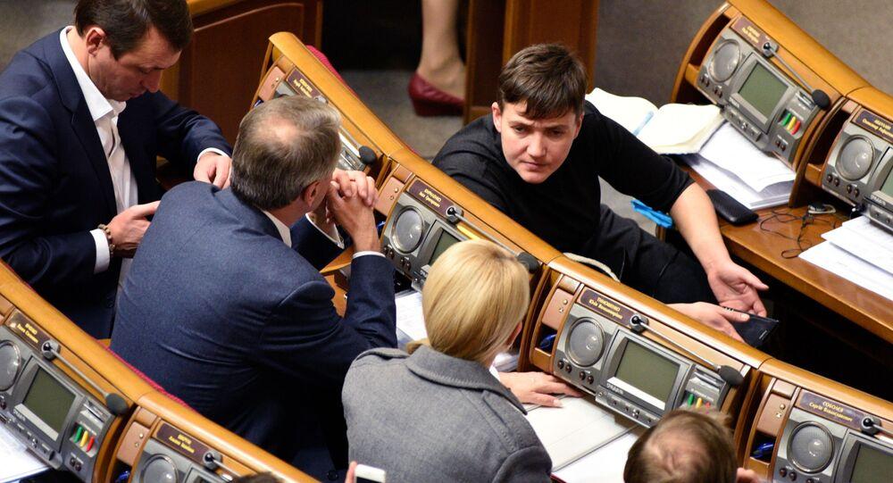 Naděžda Savčenková v ukrajinské Radě