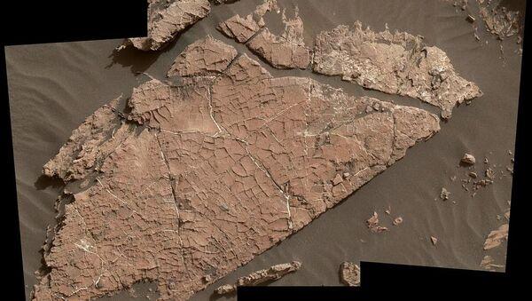 Hlína na Marsu popraskaná od vody - Sputnik Česká republika