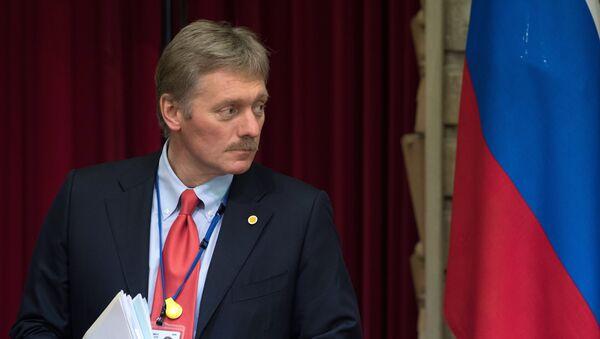 Dmitri Peskov na tiskové konferenci v Tokiu. Ilustrační foto - Sputnik Česká republika