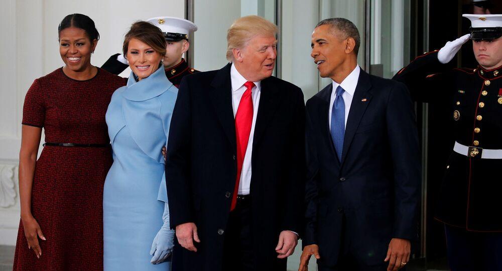 Svět Obama se setkává s rodinou Trumpových