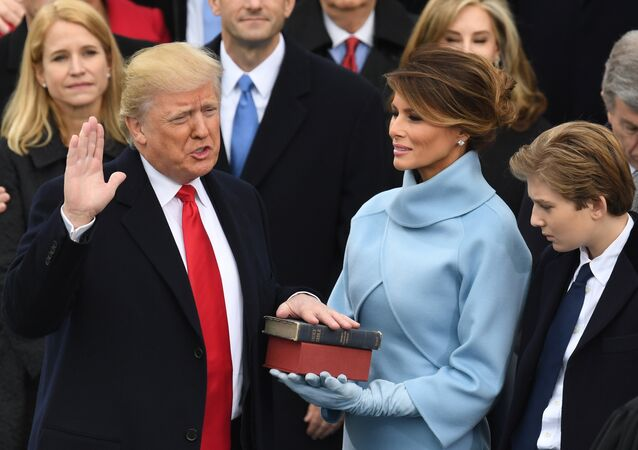 Donald Trump během inaugurace