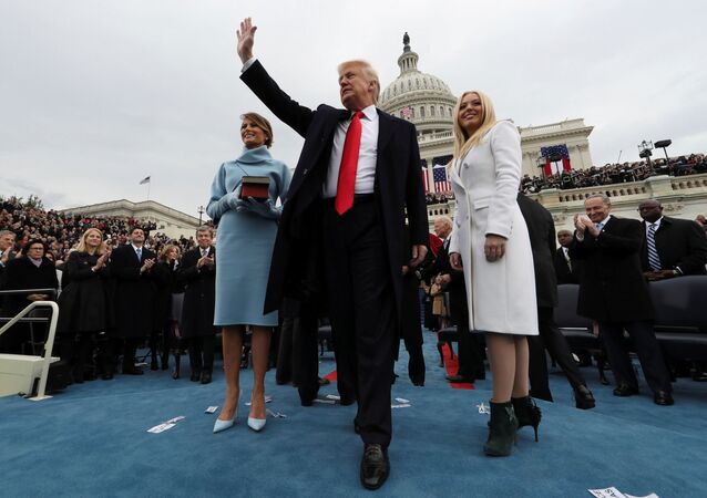 Prezident USA Donald Trump během inaugurace
