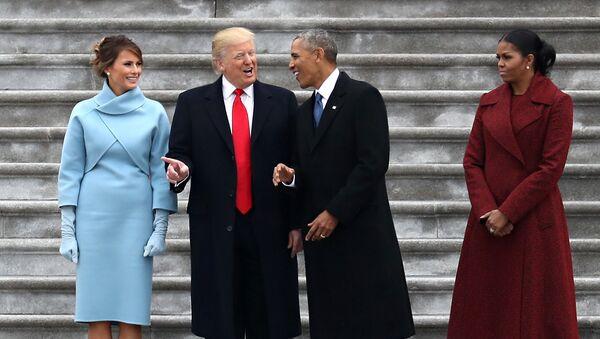 Donald Trump, Barack Obama a jejich ženy - Sputnik Česká republika