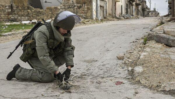 Ruští ženisté v Aleppu - Sputnik Česká republika